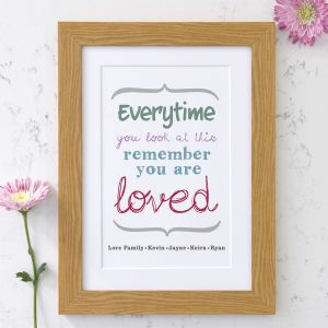 Personalised 'You Are Loved' Art Print